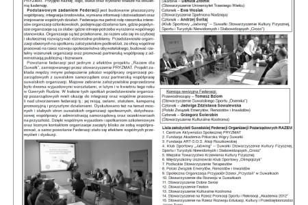 O Suwalskiej Federacji organizacji Pozarządowych w DwuTygodniku Suwalskim