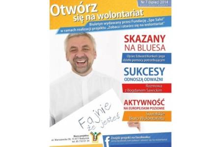 """O Suwalskim Biurze Wolontariatu w 7 numerze Biuletynu """"Otwórz się na wolontariat"""""""